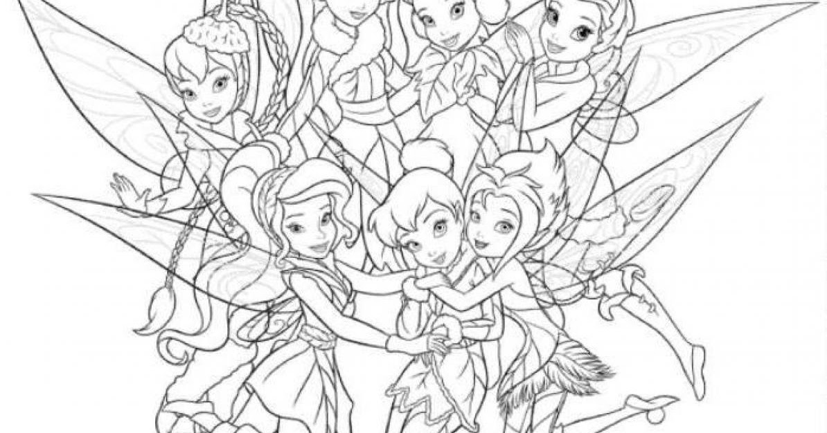 cool tinker bell coloring pages - photo#27