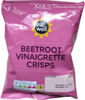 M&S Eat Well Beetroot Vinaigrette Crisps