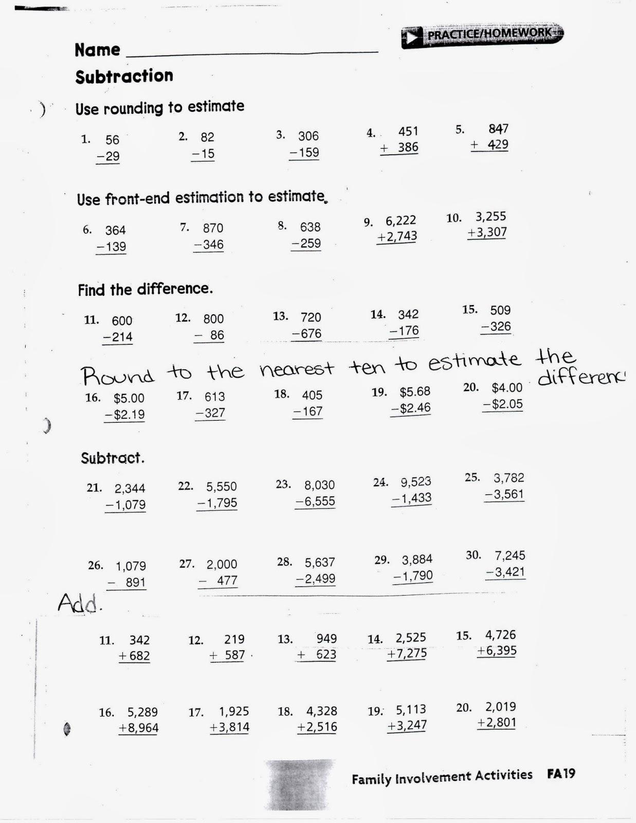 3rd Grade Math Review Worksheet