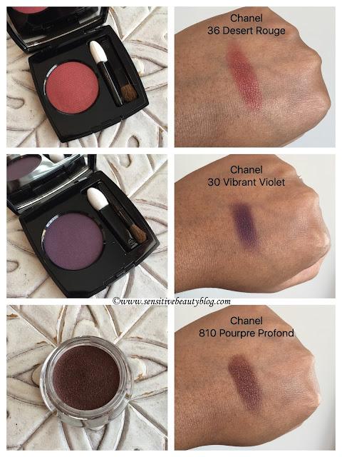 Chanel Ombre Premiere 810 Pourpre Profond 30 Vibrant Violet 34 Desert Rouge (metallic)