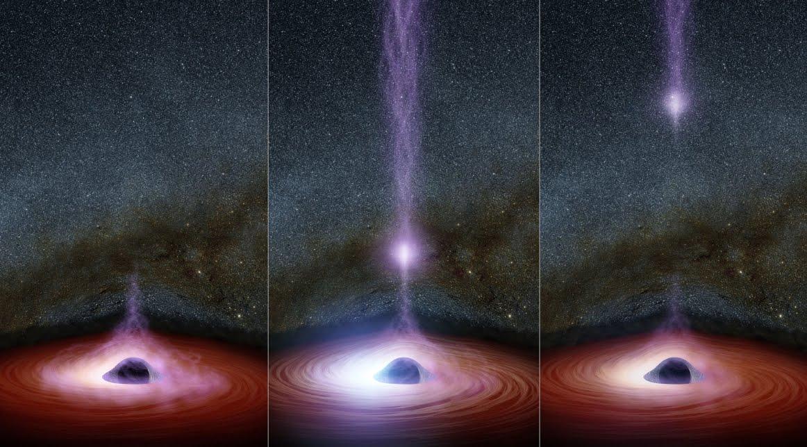 NASA vede per la prima volta un oggetto che esce da un buco nero.