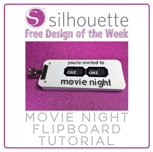 Silhouette Flipbook Using Free Shape of the Week, Admit One Movie Ticket Design by Nadine Muir from Craft Chatterbox Blog for Silhouette UK Blog