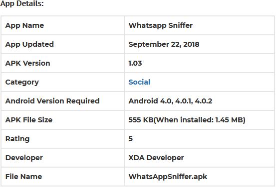 Download Whatsapp Sniffer .apk untuk Android (Gratis)