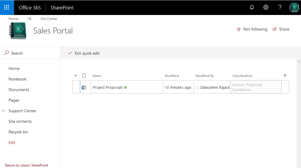 sharepoint online make list field read only