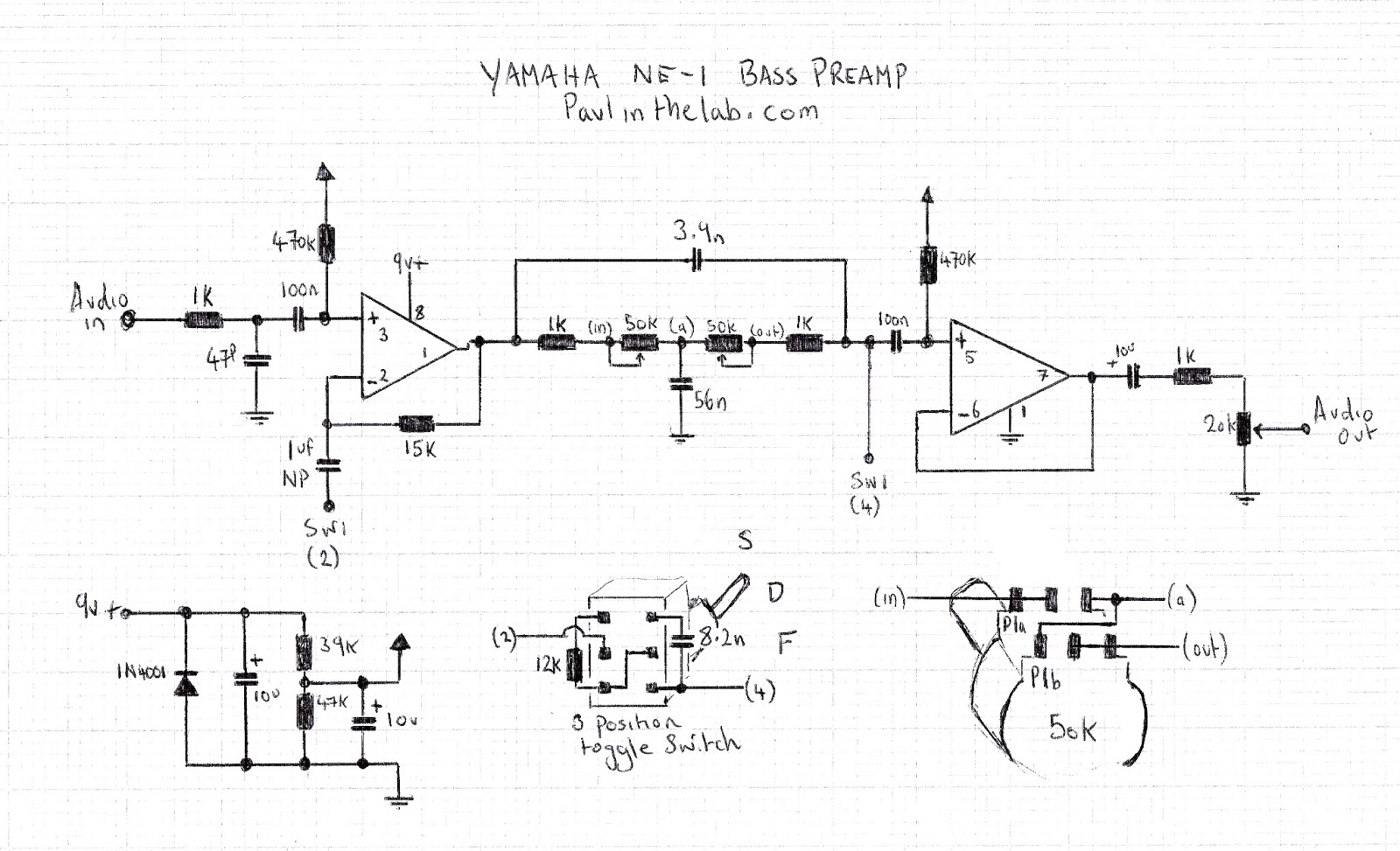 Fantastisch Yamaha Bassgitarre Schaltplan Bilder - Elektrische ...