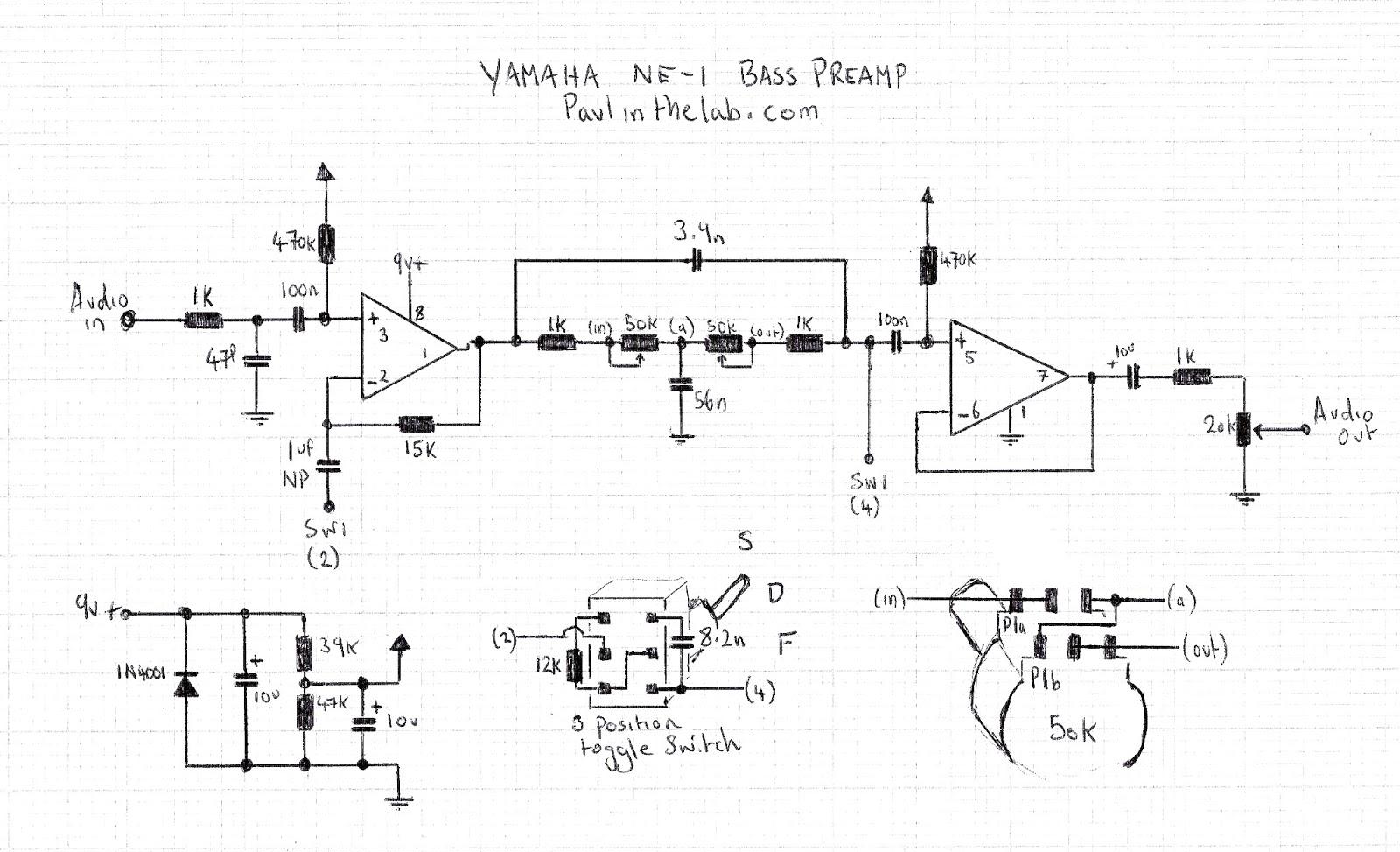 Yamaha Bass Guitar Wiring - Circuit Connection Diagram •