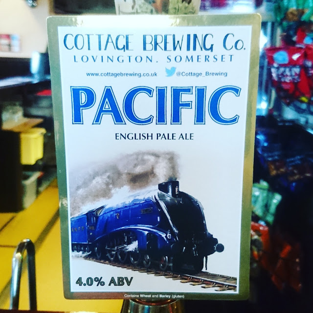 Somerset Craft Beer Review: Pacific from Cottage Brewing Co. real ale pump clip