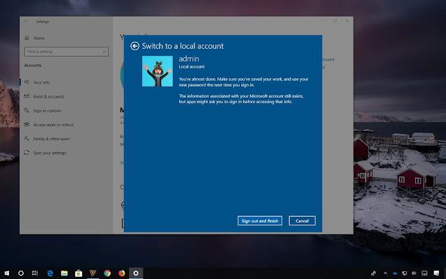 Kết quả hình ảnh cho Cách chuyển Local Account sang Microsoft Account trên Win 10