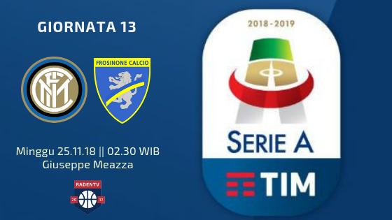 Streaming Inter Milan vs Frosinone