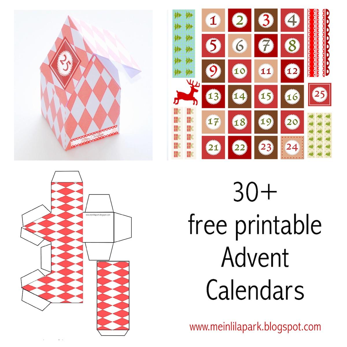 30 Free Printable Advent Calendar Templates