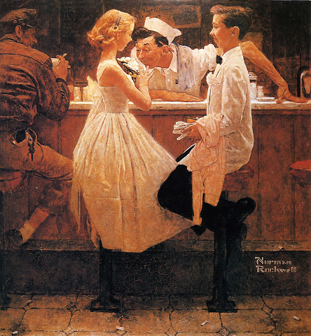 1957 After the Prom by Norman Rockwell