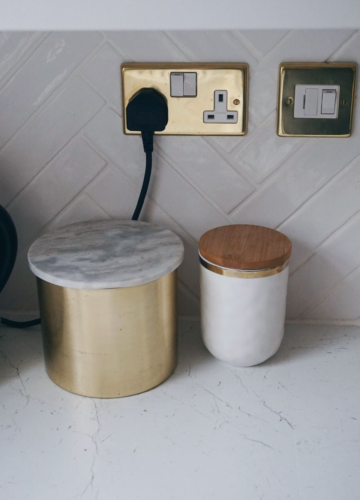 marble kitchen canister