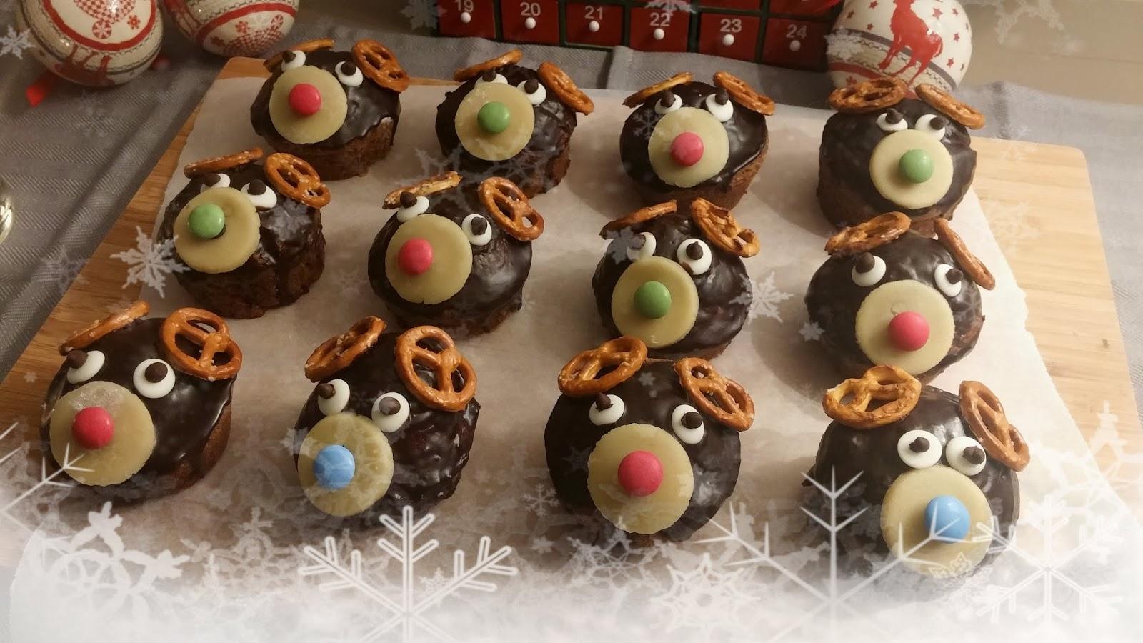 muffins de no l chocolat noisette pour les enfants recette v g talienne la f e st phanie. Black Bedroom Furniture Sets. Home Design Ideas