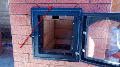 перекрытие топочной дверцы