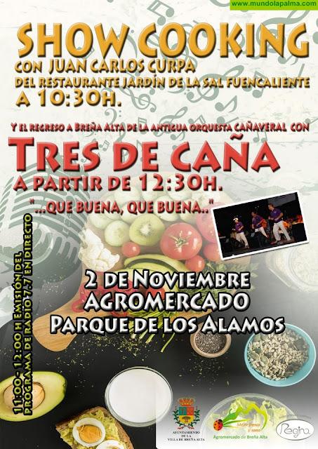 El Chef Juan Carlos Curpa,  Mojos Regina y Tres de Caña, protagonistas del Show Cooking de este sábado en Breña Alta