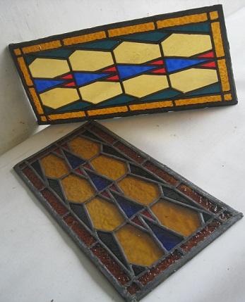 toko antiek retro 2 pcs antieke glas in lood nederland