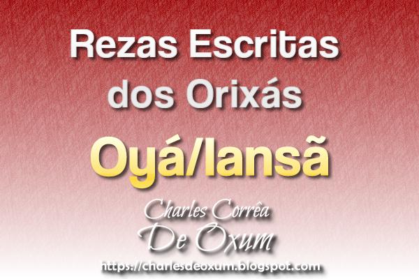 Rezas Escritas do Orixá Oyá/Iansã - Charles Corrêa D' Oxum