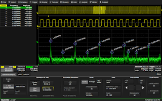 Shown is the user interface for Teledyne LeCroy's Spectrum Analyzer software option