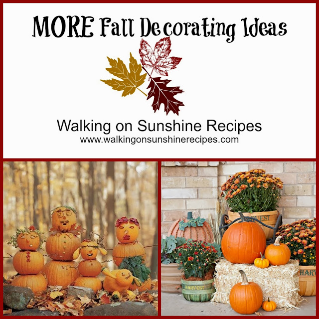 Decorating Outside for Fall | DIY Decorating Ideas for Fall | Walking on Sunshine.