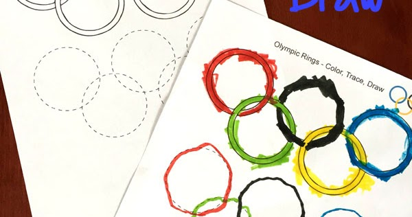 olympic rings coloring tracing drawing sheet totschooling toddler preschool kindergarten educational printables