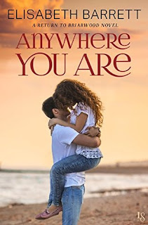 romance novel cover, contemporary romance, anywhere you are by elisabeth barrett