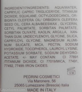 CC Cream ingredientes