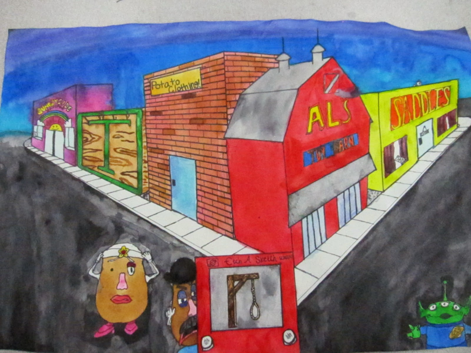 Vwms Art Room 2 Point Perspective