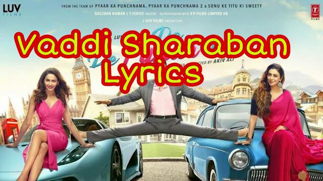 Vaddi Sharaban lyrics