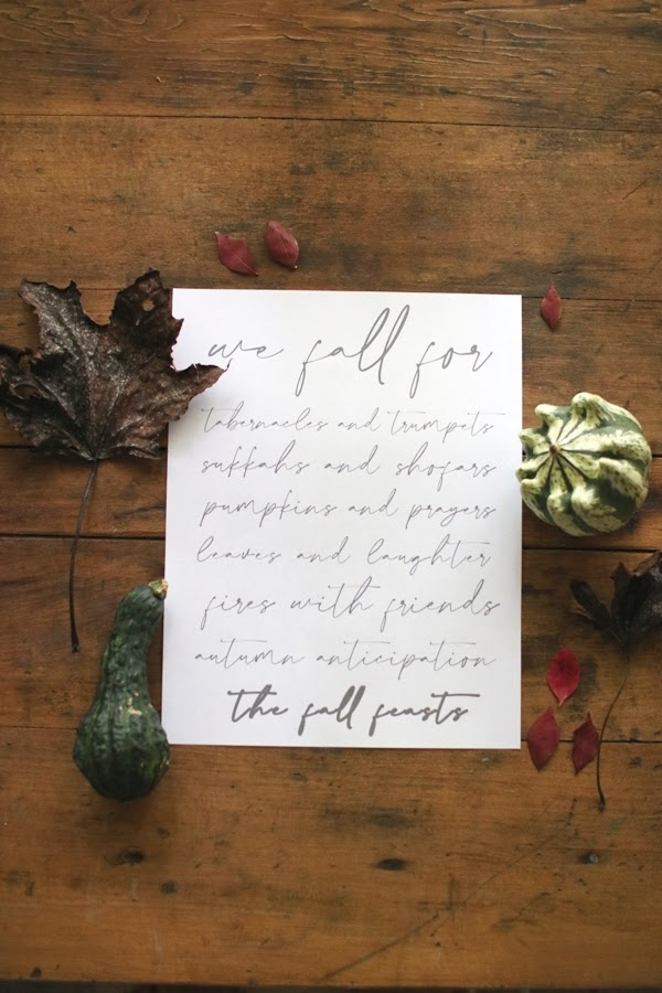 Fall Feasts Printable