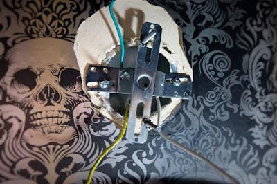 bracket electrical box wiring wall mount