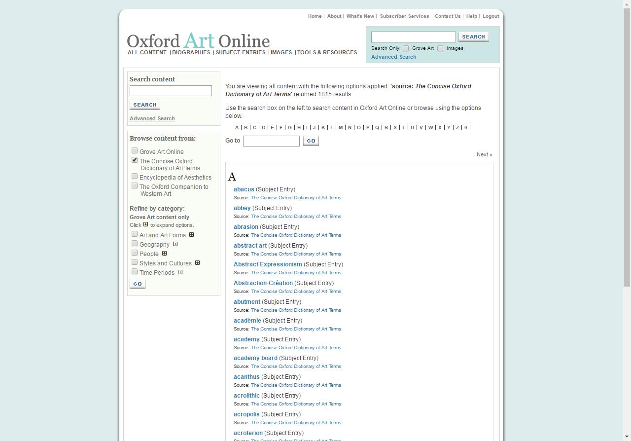 Spotlight on    : Oxford Art Online