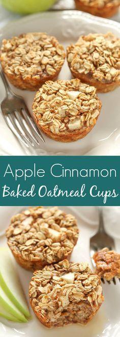 Apple Cinnamon Baked Oatmeal Cups Recipe