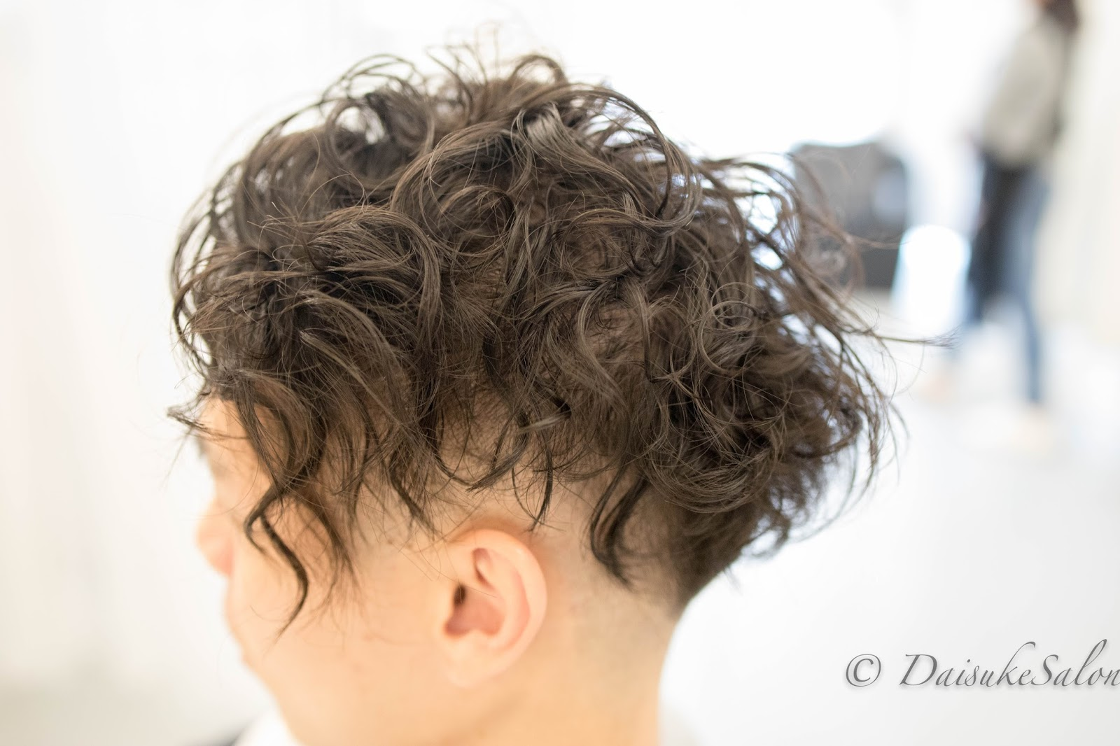 Welcome Japanese Creep Perm Curly Hair For Man Hairstyle