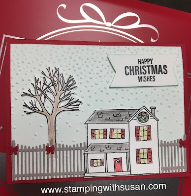 Stampin' Up!, Farmhouse Christmas Bundle, www.stampingwithsusan.com, Sponging, 2018 Holiday Catalog