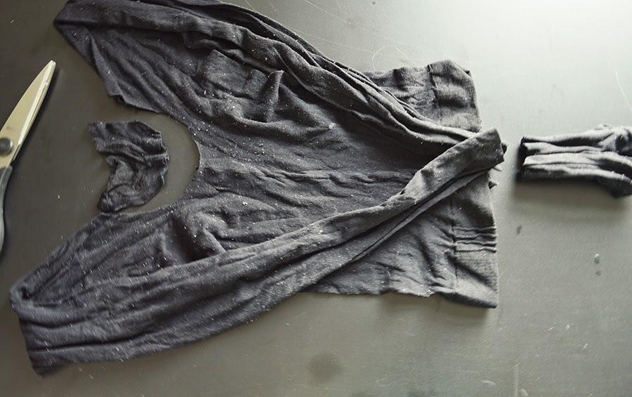 Blusa Segunda Pele com Meia-Calça: Gothic DIY Tutorial