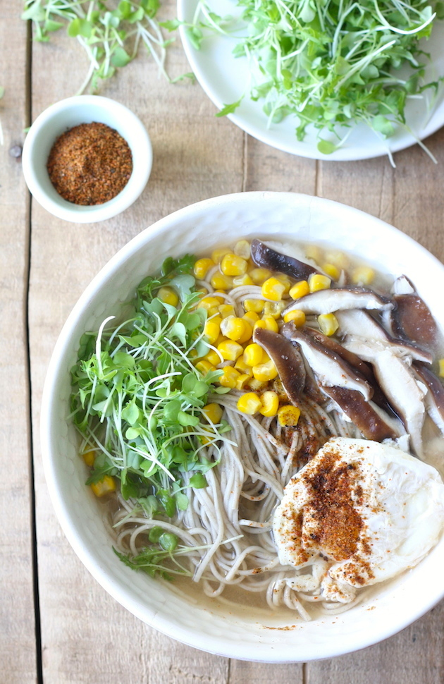 Miso Soba Noodle Soup recipe by SeasonWithSpice.com