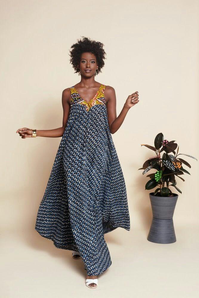 robe longue en wax pour l 39 t leuk senegal. Black Bedroom Furniture Sets. Home Design Ideas