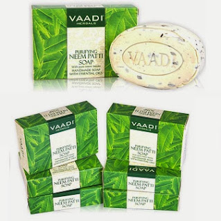 Vaadi Herbals Purifying Neem Patti Soaps With Pure Neem Leaves(75 Gr x 6  Pcs) worth Rs.168 for Rs.89 Only