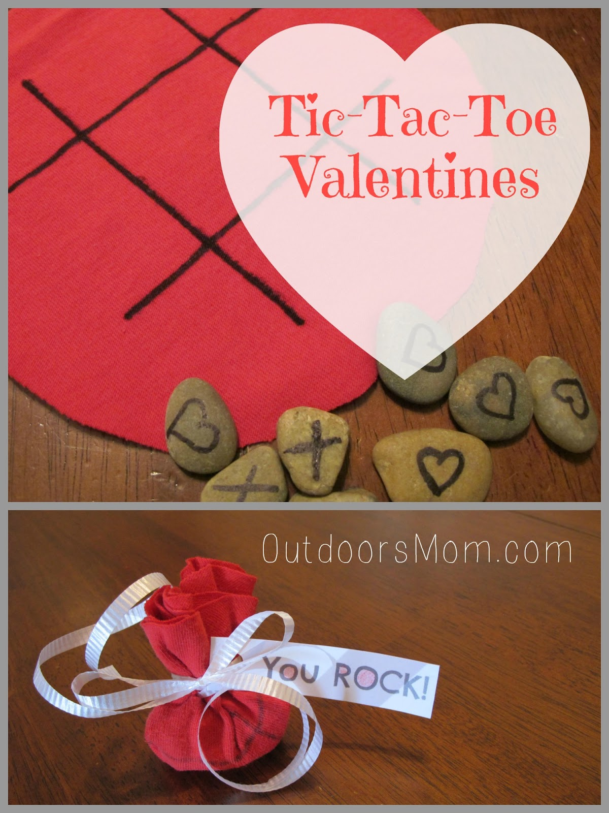 OutdoorsMom DIY TicTacToe Valentines free printable