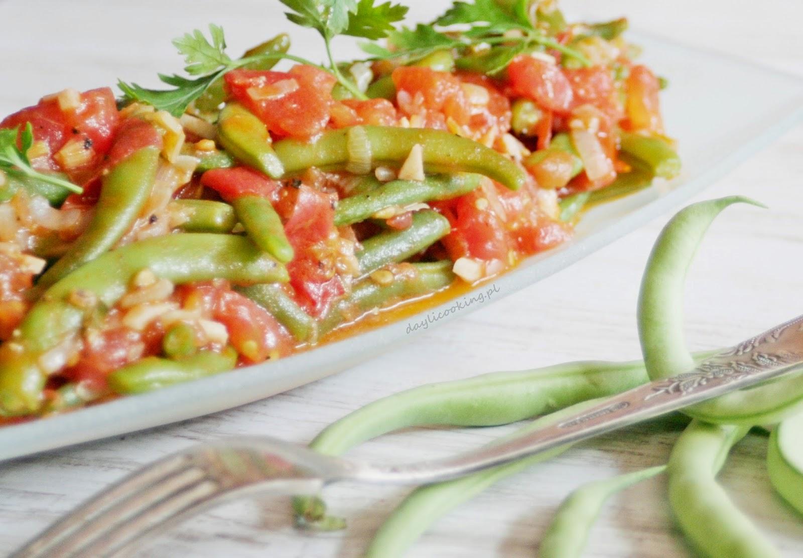 Fasolka szparagowa w pomidorach