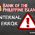 BPI Internal Error | Banking
