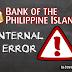 BPI Internal Error | Banking