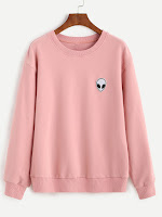 http://es.shein.com/Pink-Drop-Shoulder-Sweatshirt-With-Alien-Patch-p-310064-cat-1773.html?aff_id=8741