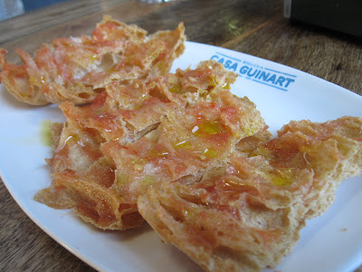 Barcelona, Casa Guinart, bread tomato