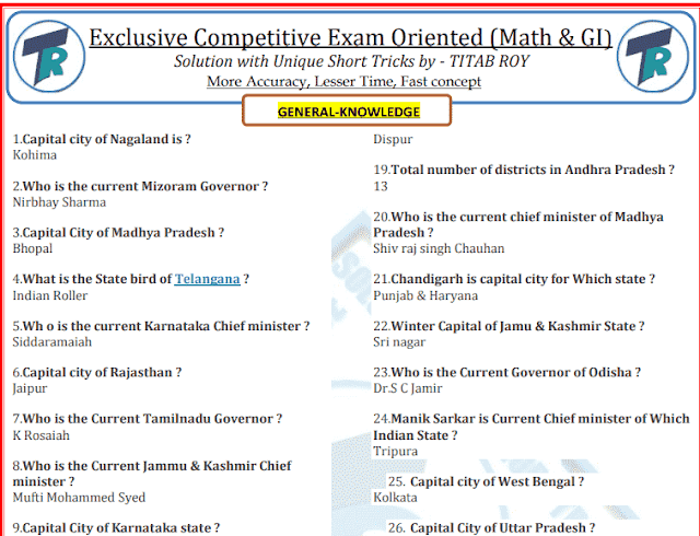 General Knowledge 600 One Liner Questions and Answers PDF Download