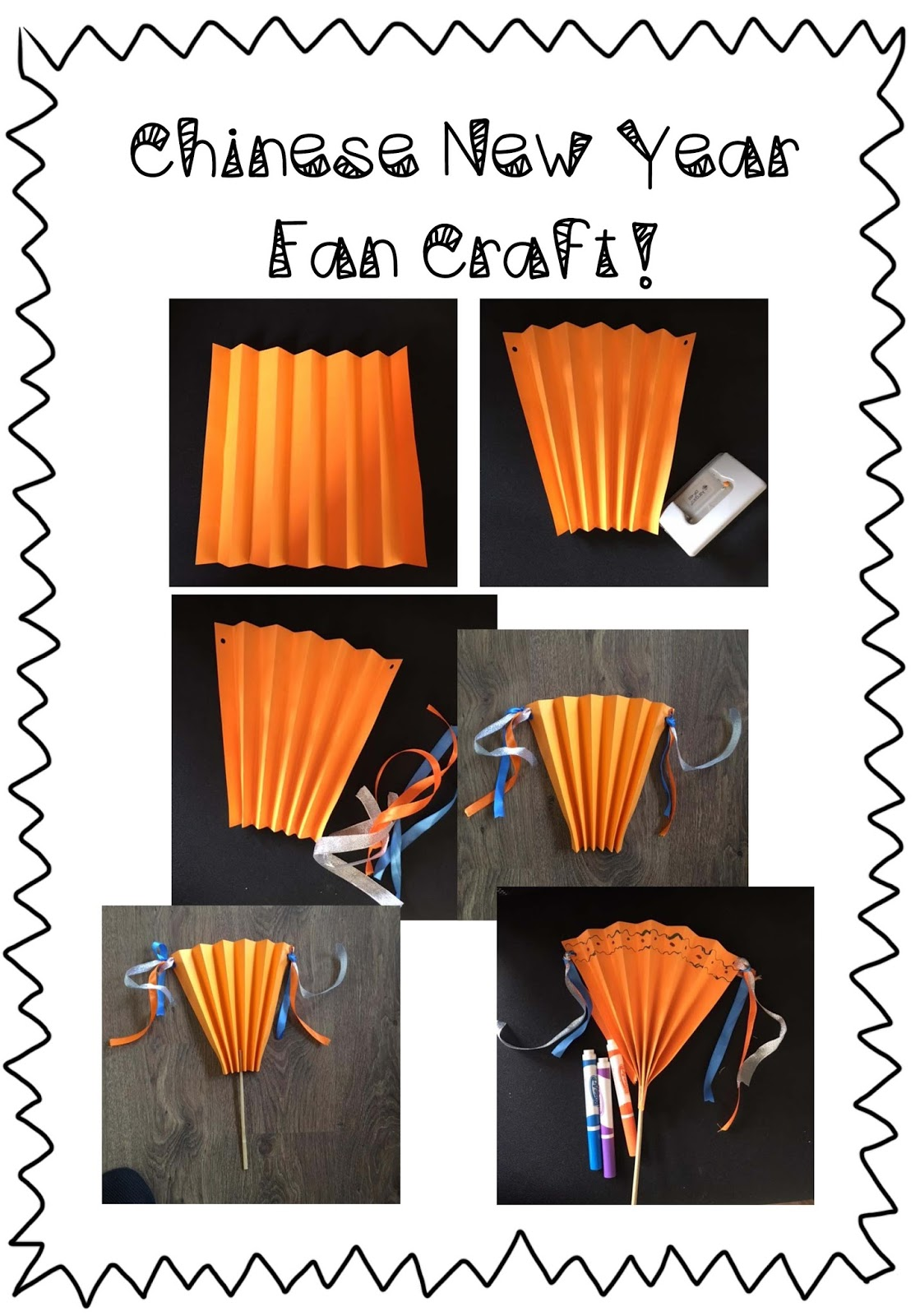 Spoonfuls Of Kindergarten Chinese New Year Fan Craft