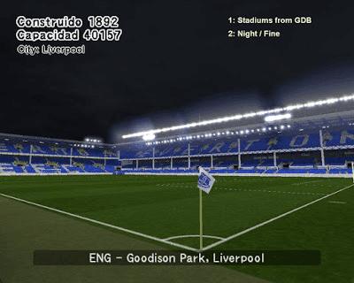 Goodison Park Stadiums PES 6