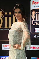 Sonal Chauhan in a stonework Floor Length Silver Designer Gown at IIFA Utsavam Awards March 2017 043.JPG
