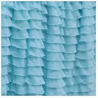Aqua Blue Ruffle Shower Curtain