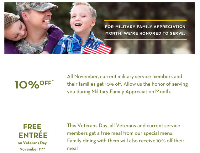 Cheap Cheap Hooray Olive Garden Military Discount In November Plus Free Meal For Veterans